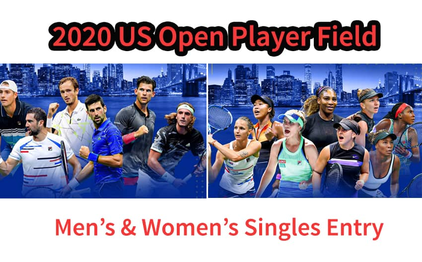 US Open Tennis 2020 Men's & Women's Singles Entry List